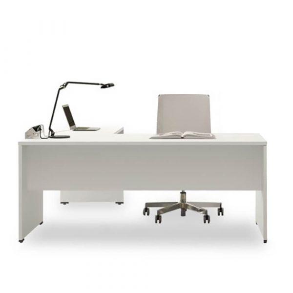 scrivania oxi pannellata in legno