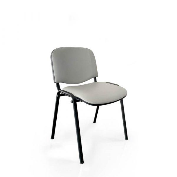 sedia ufficio fissa 4 gambe in similpelle