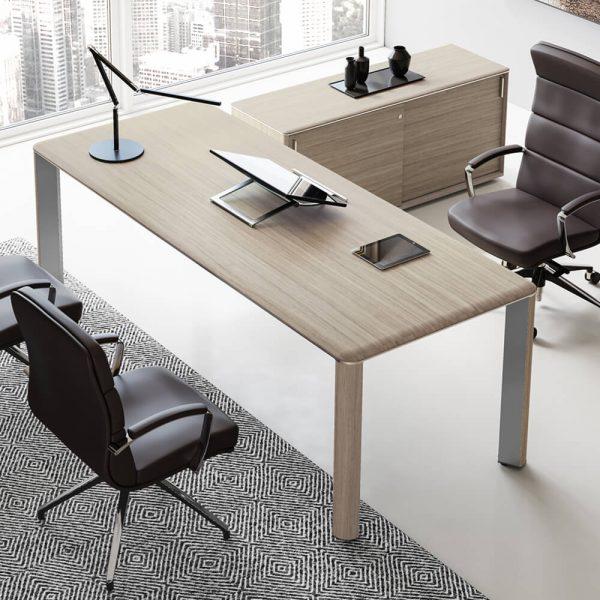 scrivania ufficio iulio piano legno