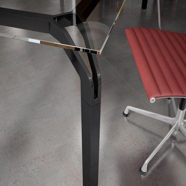 scrivania ufficio yoga piano vetro